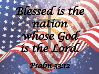 Blessed is the Nation yard sign