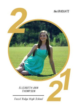 class of photo graduation card