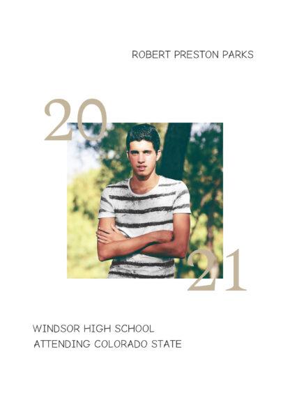 photo graduation class card