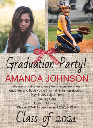 graduation photo invitation