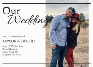 our wedding photo invitation