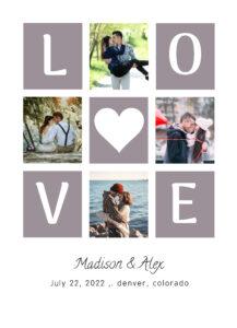 love collage wedding announcement