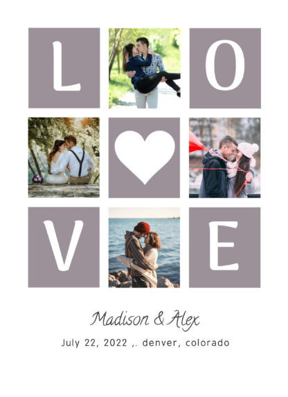 love collage wedding announcement