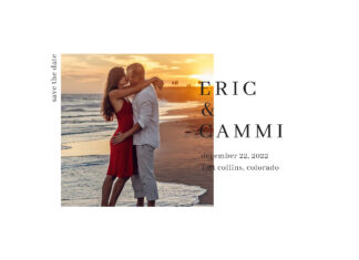 photo save the date wedding card