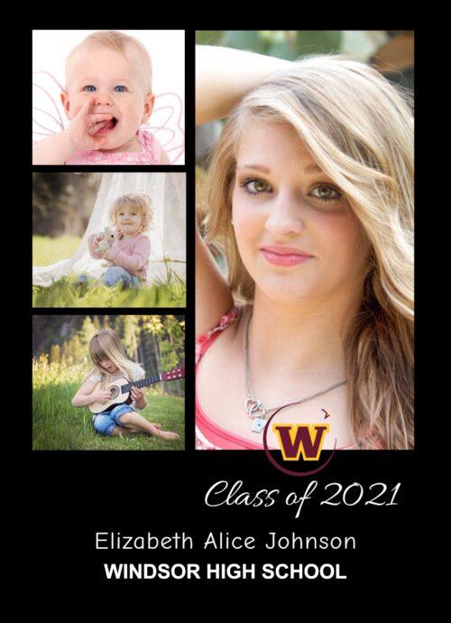windsor high school graduation card