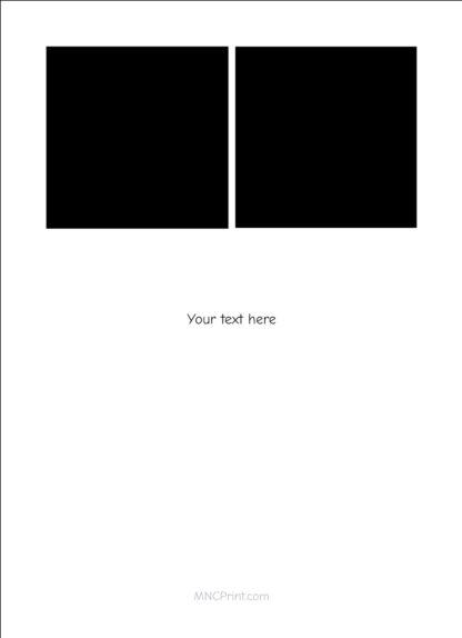 square photo graduation card